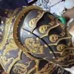 Fantasy Spaulders on Leather Armor Costume