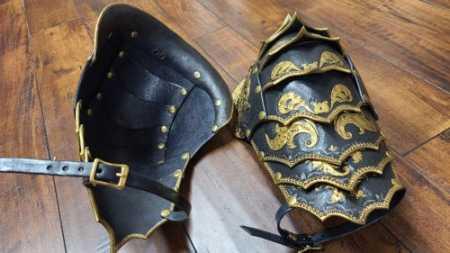 Leather Armor Spaulders